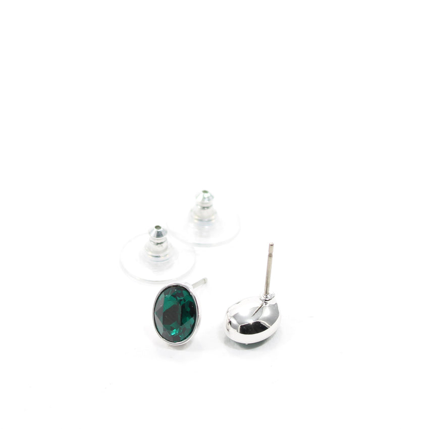 Juvel Emerald Oval Earrings