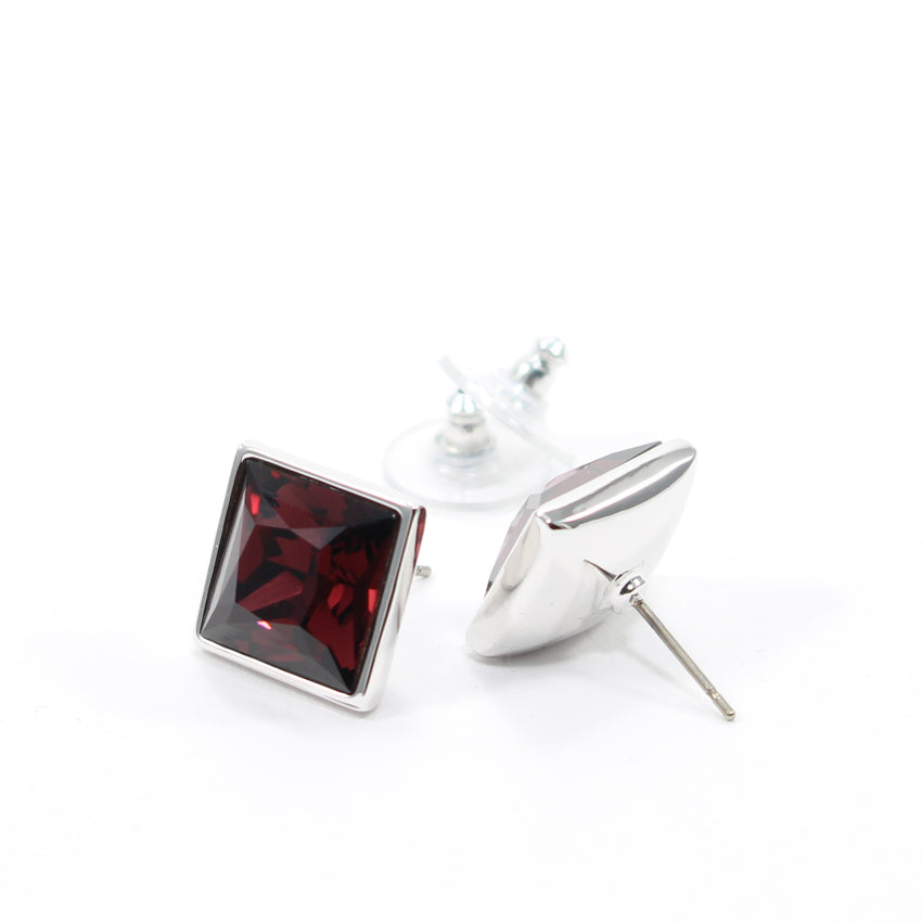Juvel Square Burgundy 1.4 Earrings