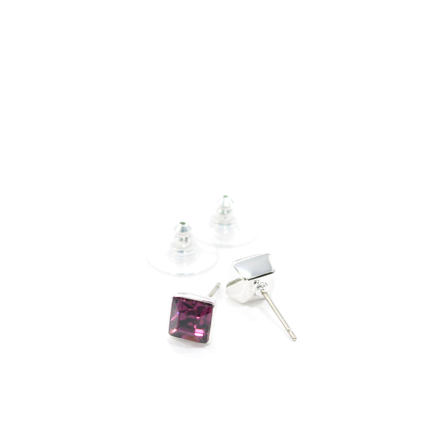 Juvel Amethyst Square 0.7 Earrings