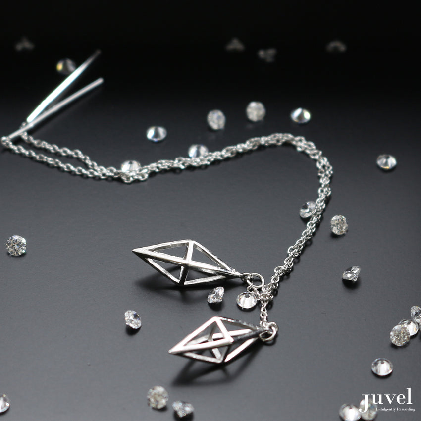 Juvel Classic: Threader Octahedron Earrings