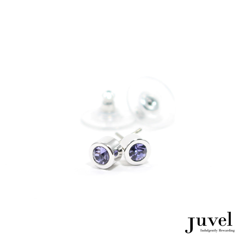 Juvel Off-Set Tanzanite Stud Earrings