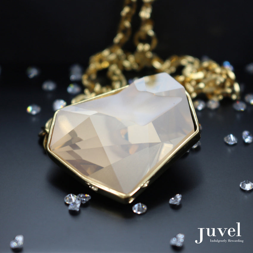 Juvel Fancy Golden Shadow Necklace (14K Gold Plated)
