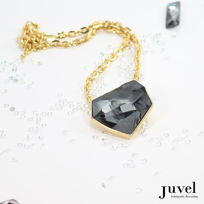 Juvel Fancy Silver Night Necklace (14K Gold Plated)