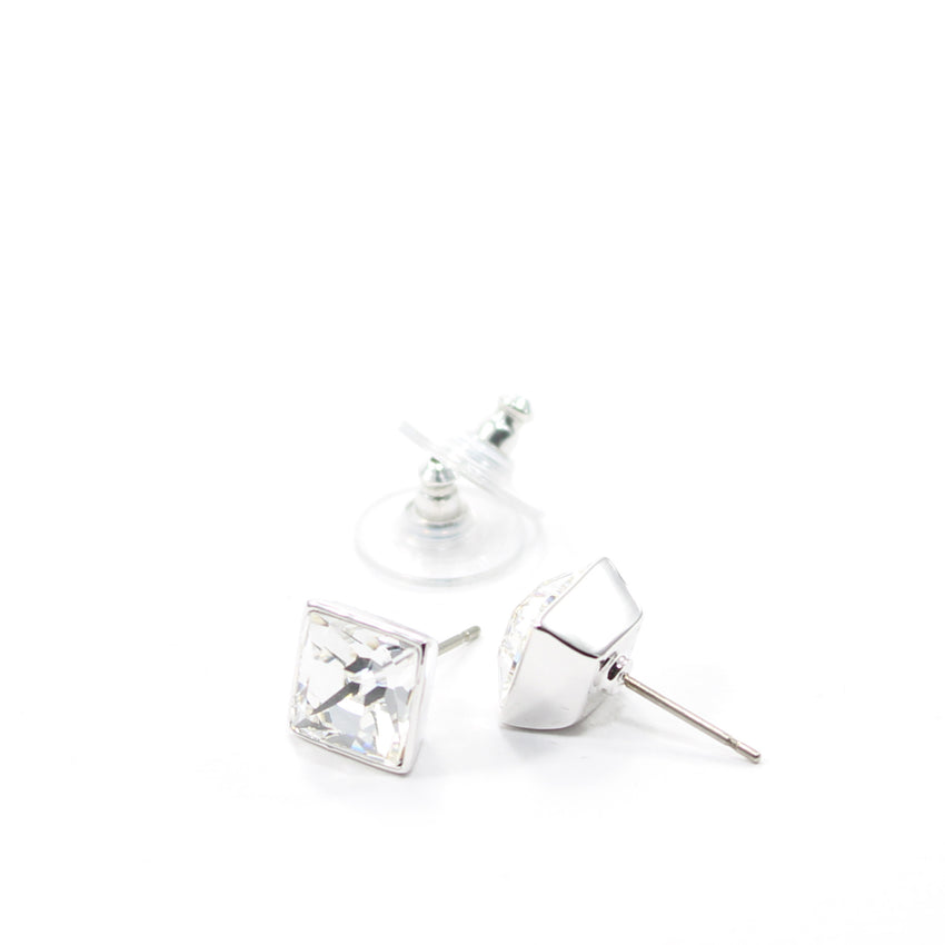 Juvel Clear Square 0.9 Earrings
