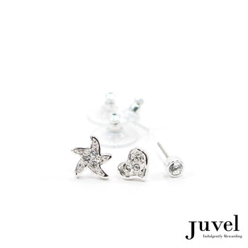 Juvel 3 Piece SHR Clear Earrings