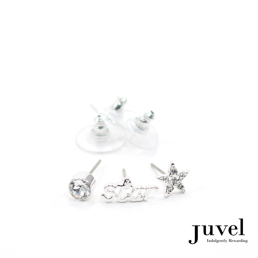 Juvel 3 Pieces Star Earrings