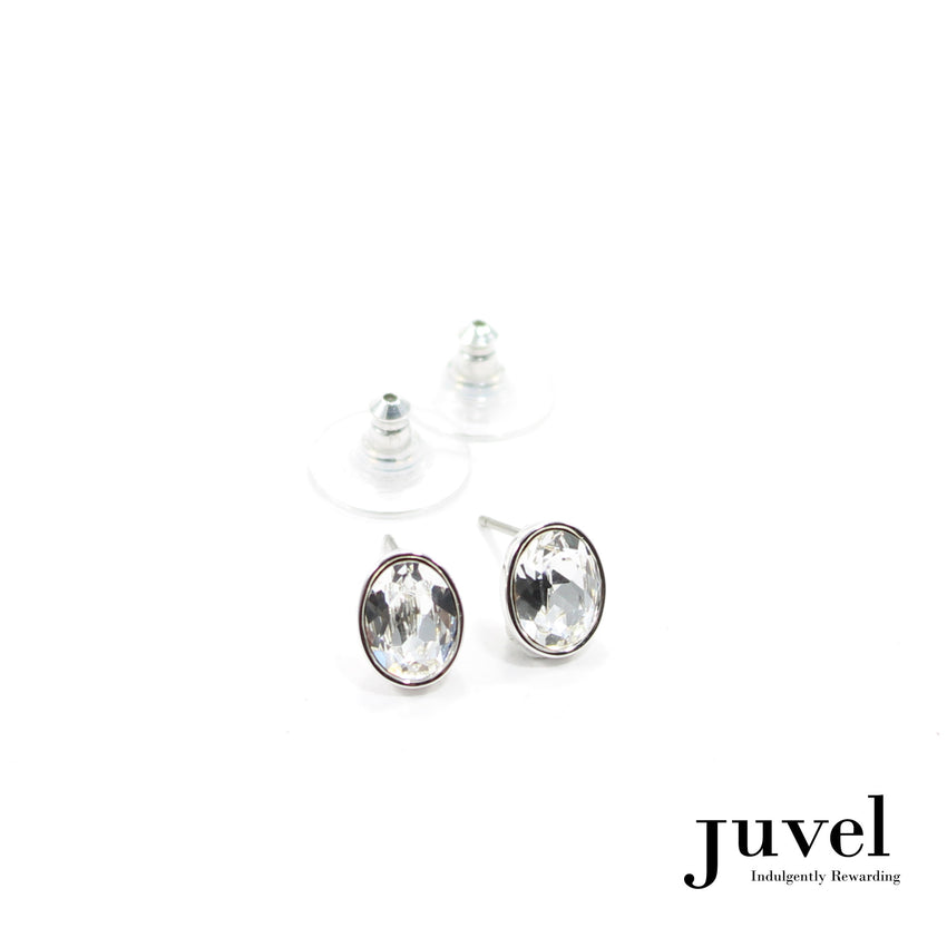 Juvel Clear Oval Earrings
