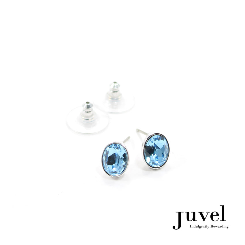 Juvel Aquamarine Oval Earrings