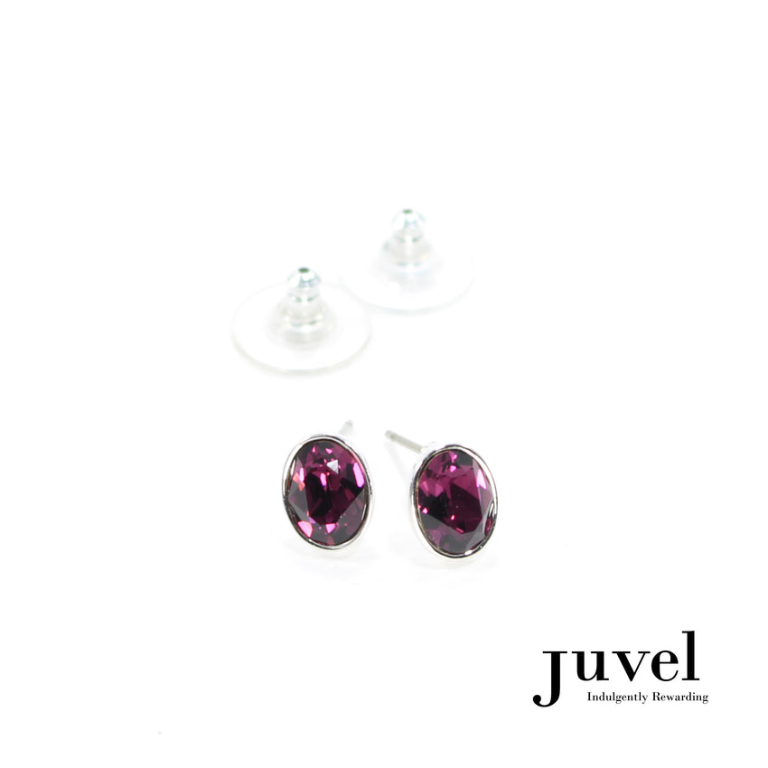 Juvel Amethyst Oval Earrings