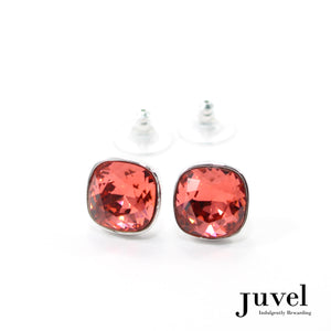 Juvel Cushion Cut Padparadscha 1.3 Earrings