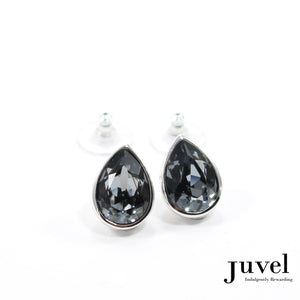Juvel Black Diamond Tear Drop Earrings