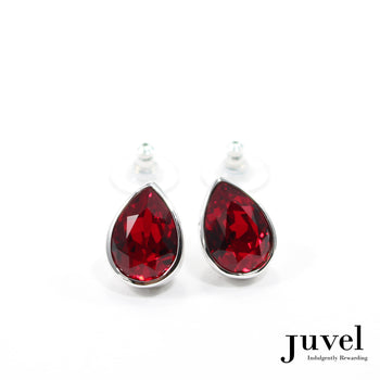 Juvel Light Siam Tear Drop Earrings