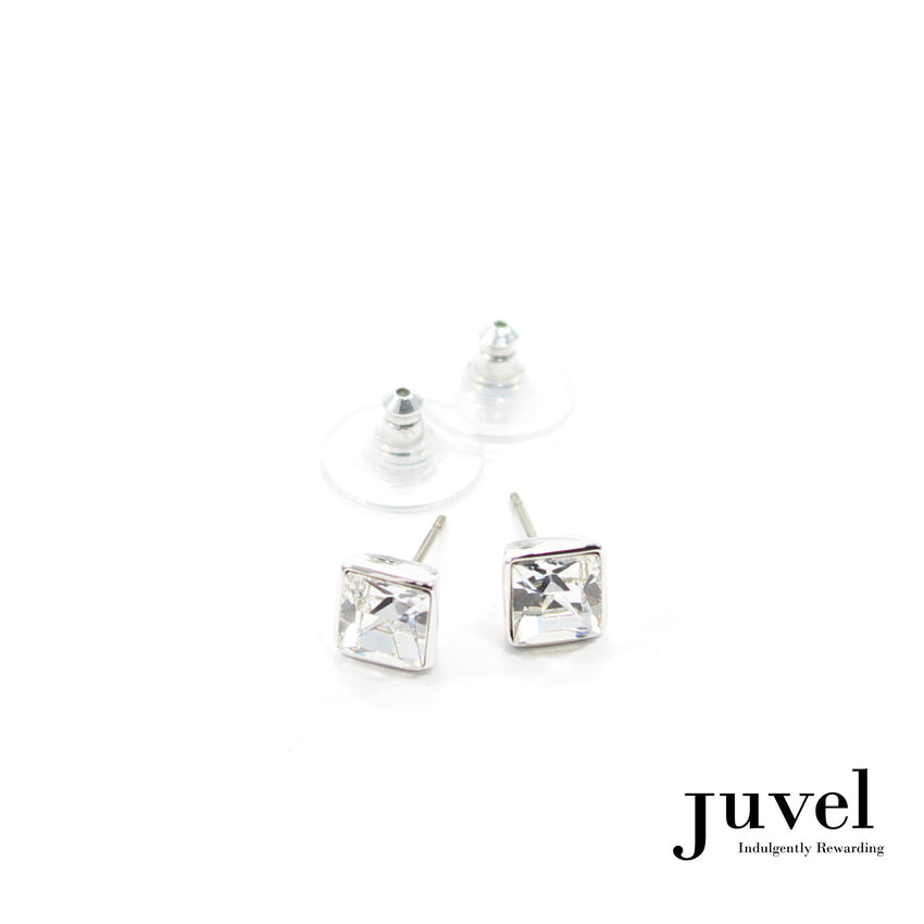 Juvel Clear Square 0.7 Earrings