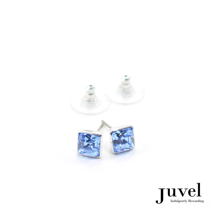 Juvel Light Sapphire Square 0.7 Earrings