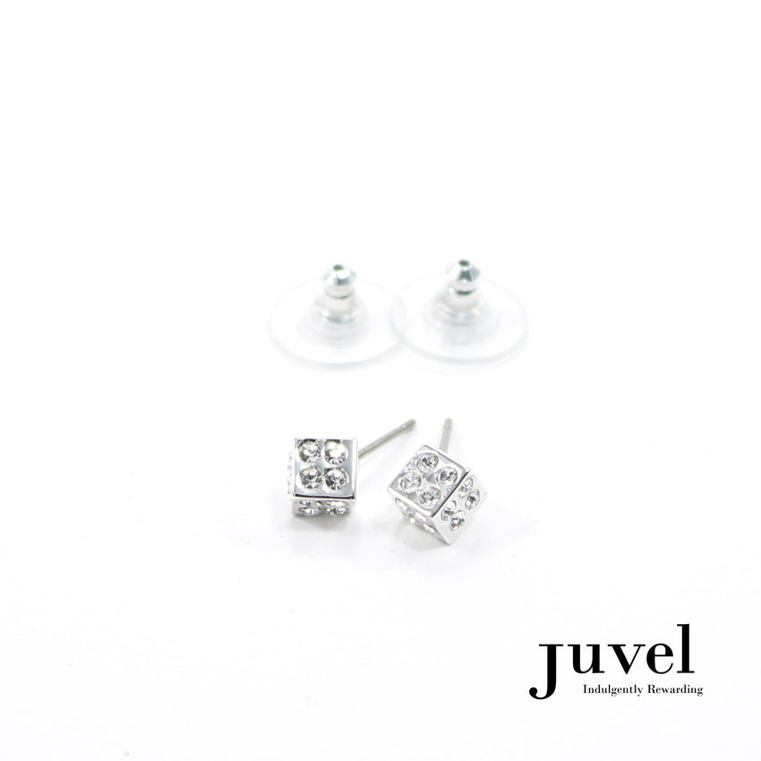Juvel Dice 4 Clear Earrings