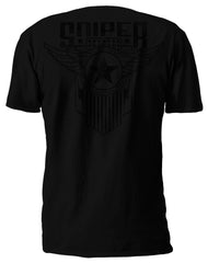 SFW SARGE S/S BLACK ON BLACK T-SHIRT