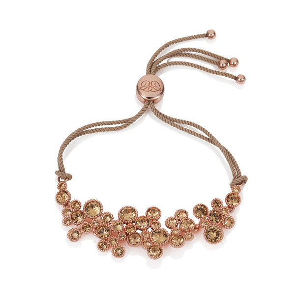Titania 18ct Rose Gold Plated Light Colorado Topaz SWAROVSKI Crystal Friendship Bracelet