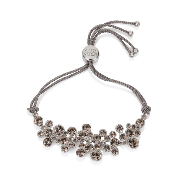 Titania rhodium plated Greige SWAROVSKI Crystal Friendship Bracelet