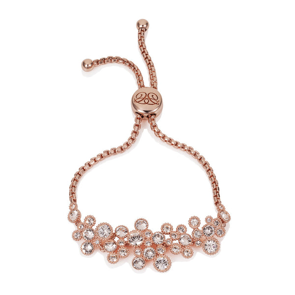 Titania 18ct Rose Gold Plated SWAROVSKI Crystal Friendship Bracelet