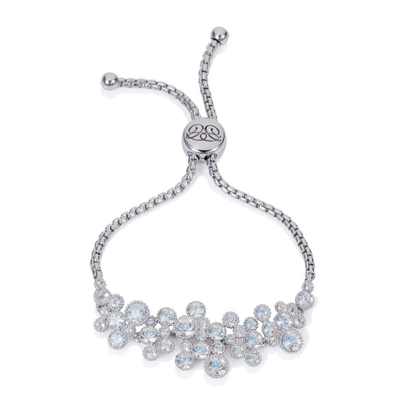 Titania Rhodium Plated SWAROVSKI Crystal Friendship Bracelet