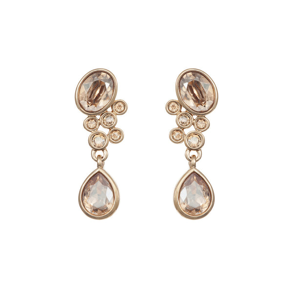 Titania 18ct gold plated SWAROVSKI Crystal cascade drop earrings
