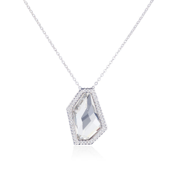 Titania grand galactic cut pendant with accent detail