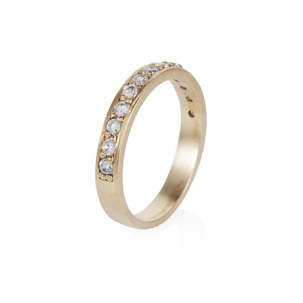 Pettia 18ct gold plated sterling silver eternity stacker ring