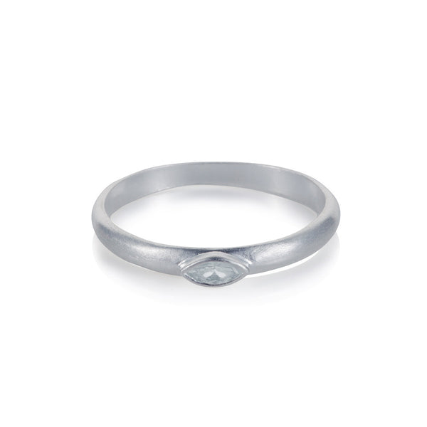 Pettia sterling silver marquise solitaire charm ring