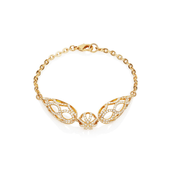 Titania 18ct gold plated SWAROVSKI Crystal filagree detail bracelet