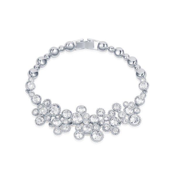 Titania Rhodium Plated SWAROVSKI Crystal Bubble Bracelet
