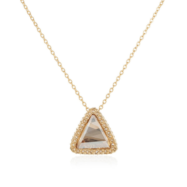 Titania 18ct gold plated triangle pendant