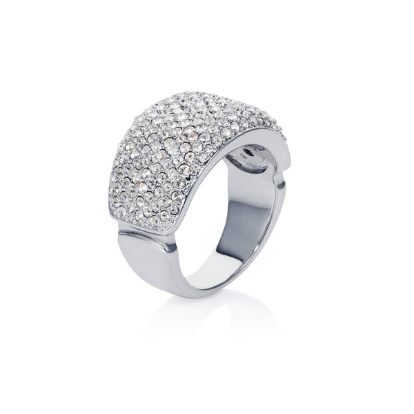 Titania grand pave band ring
