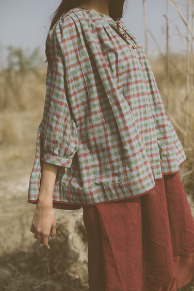Micro checkered blouse