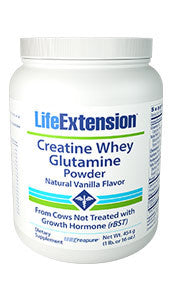 Life Extension Creatine Whey Glutamine Powder (Vanilla)