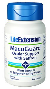LifeExtension MacuGuard® Ocular Support with Saffron. 60 softgels