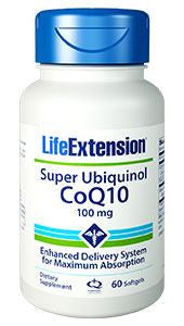 Life Extension Super absorbable Ubiquinol CoQ10 with Limonene 100 softgels