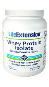Life Extension Whey Protein Isolate (Natural Vanilla Flavor)