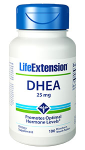 DHEA 25 mg, 100 dissolve in mouth tablets