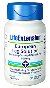 Life Extension European Leg Solution featuring Certified Diosmin 95