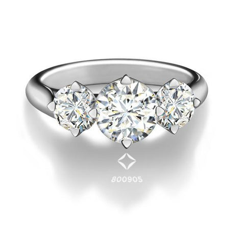 FOREVERMARK™  Three Diamonds Ring