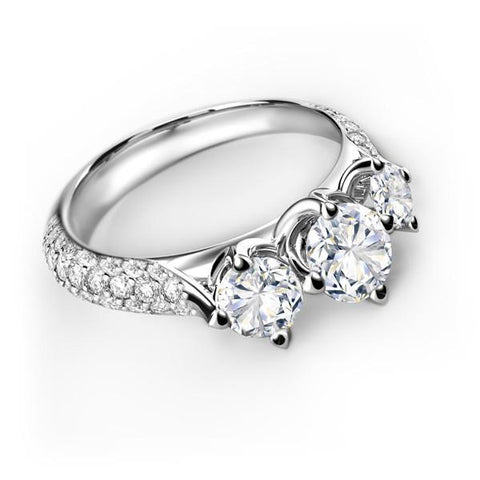 FOREVERMARK™  Three Stone