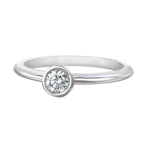 FOREVERMARK™  SOLITAIRE PETITE RING White Gold
