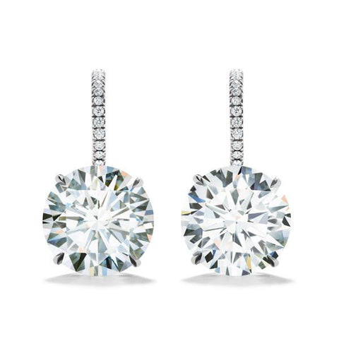 FOREVERMARK™  HALO DROP EARRINGS