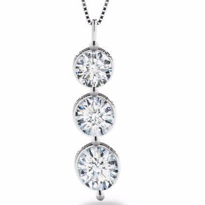 FOREVERMARK™  Three Diamonds Pendant