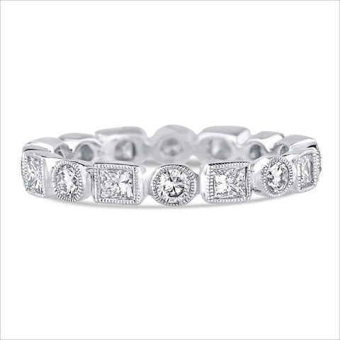 Beverley K Round and Square Diamond Band