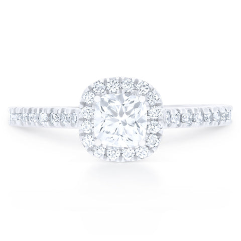 FOREVERMARK™ CUSHION HALO RING