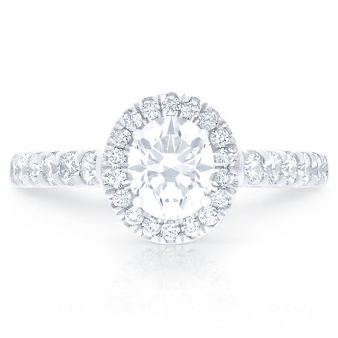 FOREVERMARK™ OVAL HALO RING