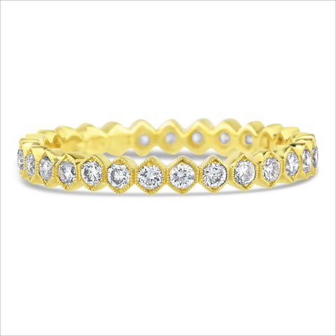 Beverley K Hexagon Diamond Band