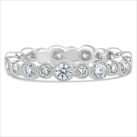 Beverley K Medium Alternating Bezel Set Diamond Band