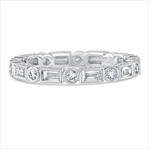Beverley K Round and Baguette Diamond Band
